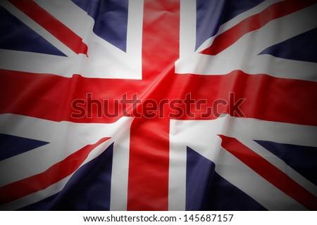 Closeup of Union Jack flag #145687157