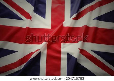 Closeup of Union Jack flag #204715783