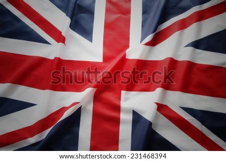 Closeup of Union Jack flag #231468394