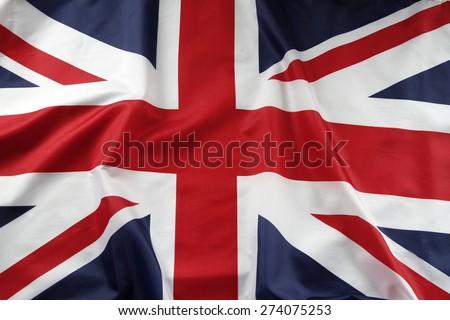 Closeup of Union Jack flag  #274075253