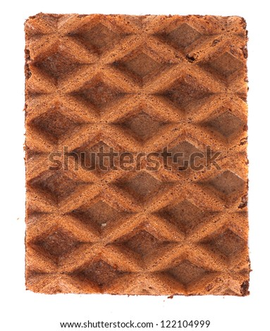 Closeup of wafer - stock photo