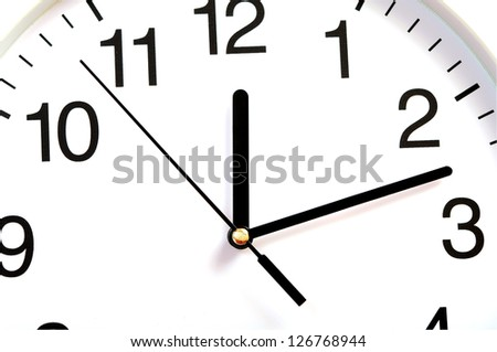 closeup of wall clock