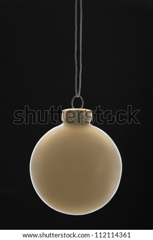 Closeup of white Christmas bauble