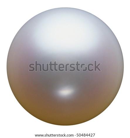 Closeup of White pearl.
