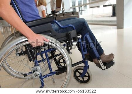 Closeup of woman in wheelchair