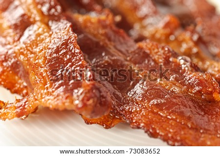 Closeup on bacon