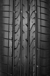 closeup on car tyre texture