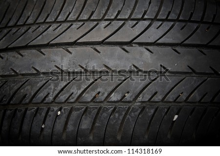 Closeup pattern of old tire texture
