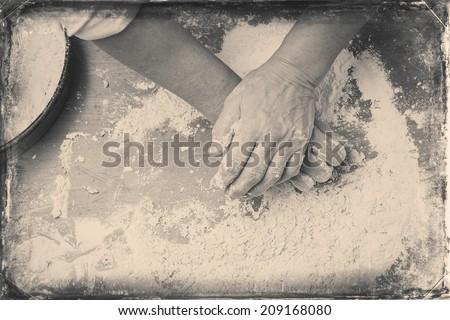 closeup photo of baker making...