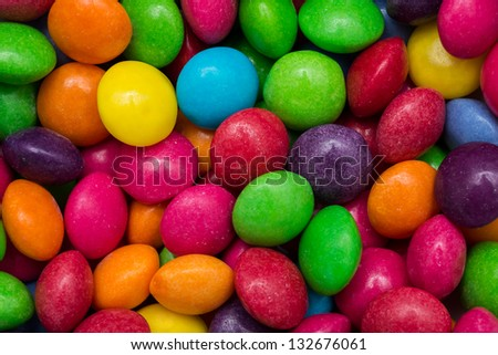 Closeup Photo Of Multicolored Fruit Flavored Candies
