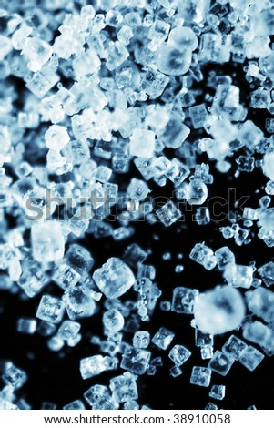 Closeup photo of salt crystals