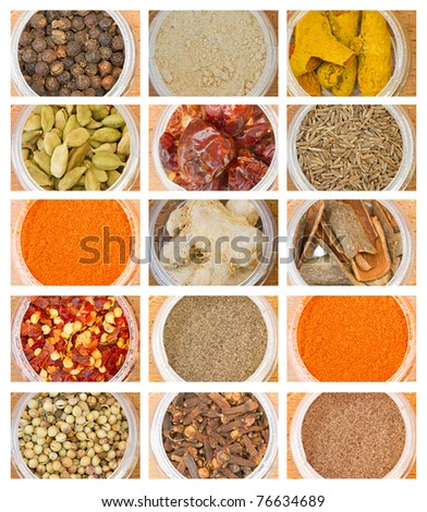 closeup  photo of various spices all over the world