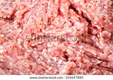 Closeup pork milled