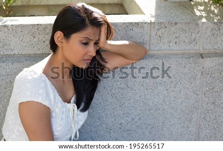 woman looking down body language