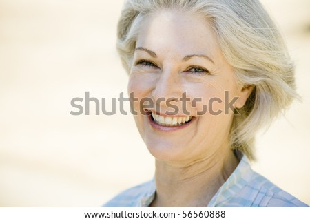 Closeup Portrait of a Pretty Woman Outdoors #56560888
