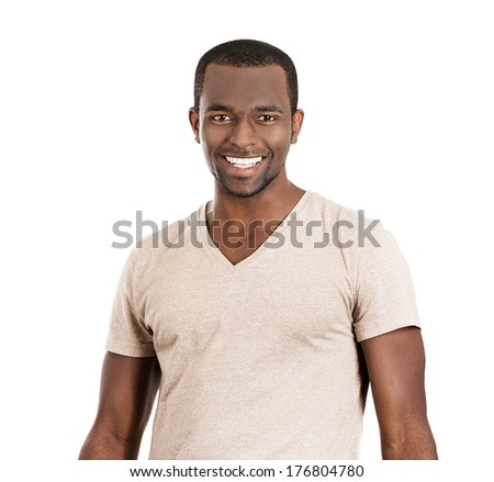 Closeup portrait of handsome, smiling business man, successful student, happy guy, agent, isolated on white background. Positive human emotions, feelings, emotions, expressions, attitude, perception