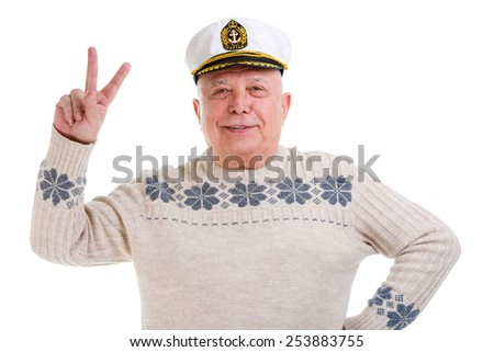 7044573008116 Free photos Closeup portrait of old senior man with a boat captain ...