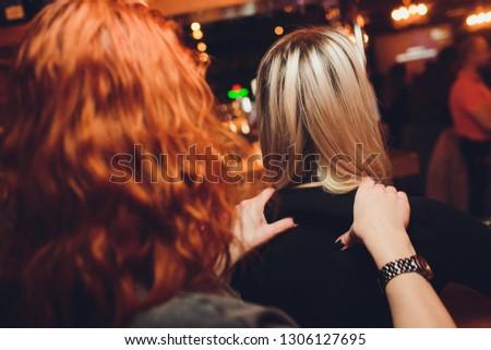 Lesbian couple massaged