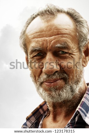 closeup portrait of old man