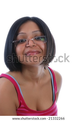 stock photo : Closeup portrait of one sexy indian girl