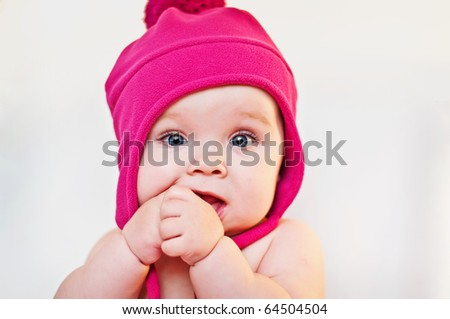 closeup portrait of the cute  baby