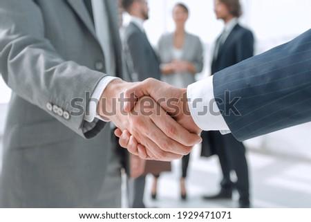 closeup.reliable handshake of business partners