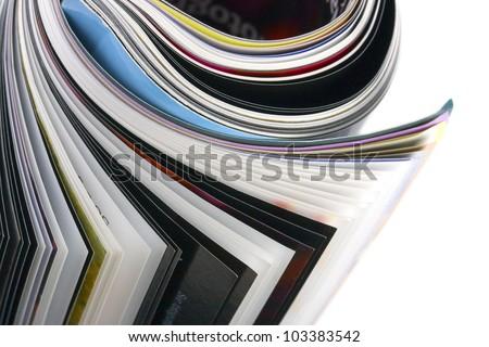closeup roll of magazine