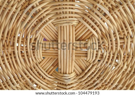 Closeup seamless rattan wicker of basket - stock photo