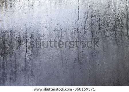 Shutterstock Closeup shot of a steamy window with water drops made in dull day.