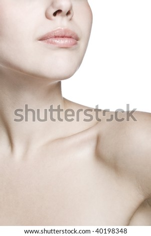 closeup shot of neck and shoulder of a beautiful girl