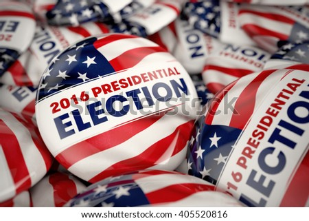 Shutterstock Closeup shot of one presidential election button in focus in between many other buttons in a box. Selective focus with shallow depth of field.