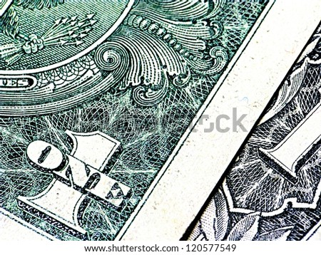 Closeup shot of US bank notes for background use