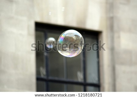 Closeup soap bubbles