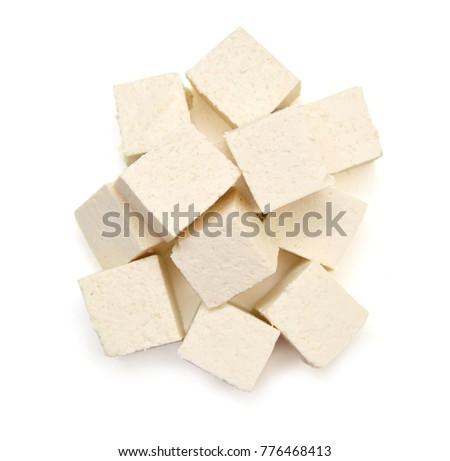 Closeup tofu isolated on white background  Сток-фото ©