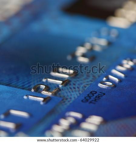 Closeup view of a credit card