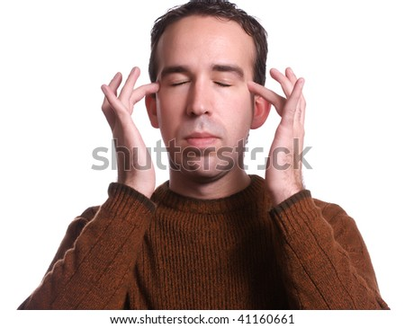 Closeup view of a man using EFT tapping to help relieve various ailments