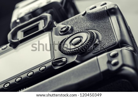 Closeup view of digital camera