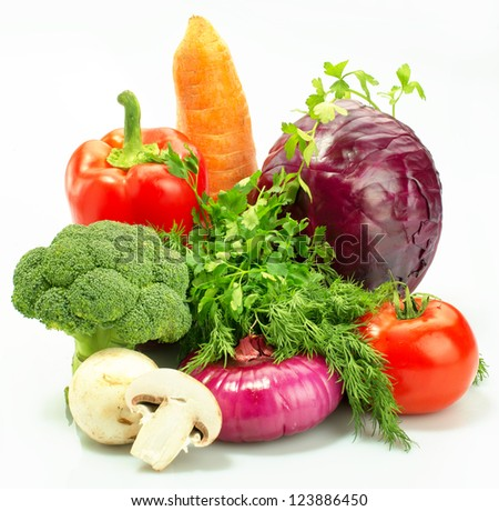Closeup view of fresh vegetables