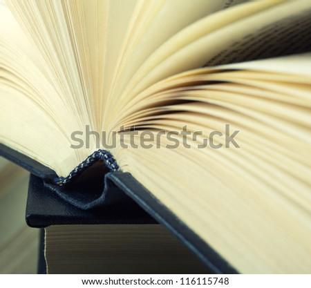 Closeup view of hardcover book