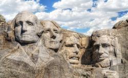 closeup view of Mt. Rushmore