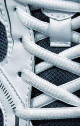 Closeup view of sport shoe. Toned
