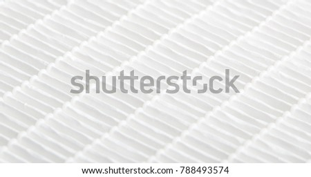 Closeup view on air filter. Filtration concept. High efficiency air filter for HVAC system.  #788493574