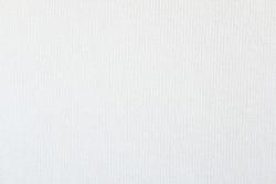 Closeup white blank linen fabric texture background.