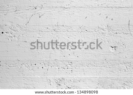 Closeup white painted concrete wall texture