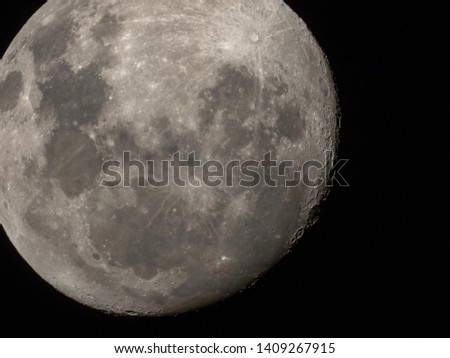 Closeups of Earth's Moon (Luna)