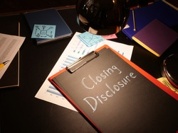 Closing Disclosure is shown on the conceptual photo using the text