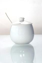 closing white sugar-bowl