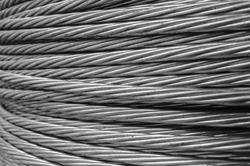 closse up steel wire rope cable background