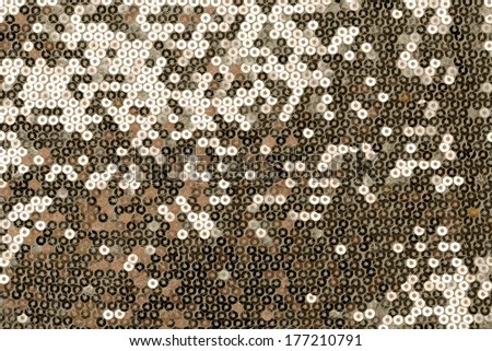 cloth embroidered with gold sequins background