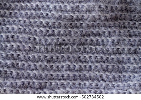 cloth hand-knitted mohair